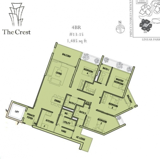 The Crest 4 bedrooms Twr 105